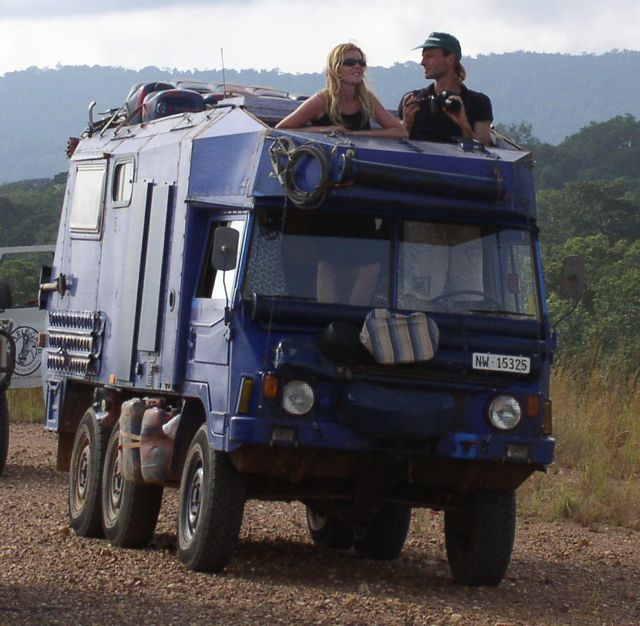 Urs and Elza in the Pinzy in Gabon way back in 2004