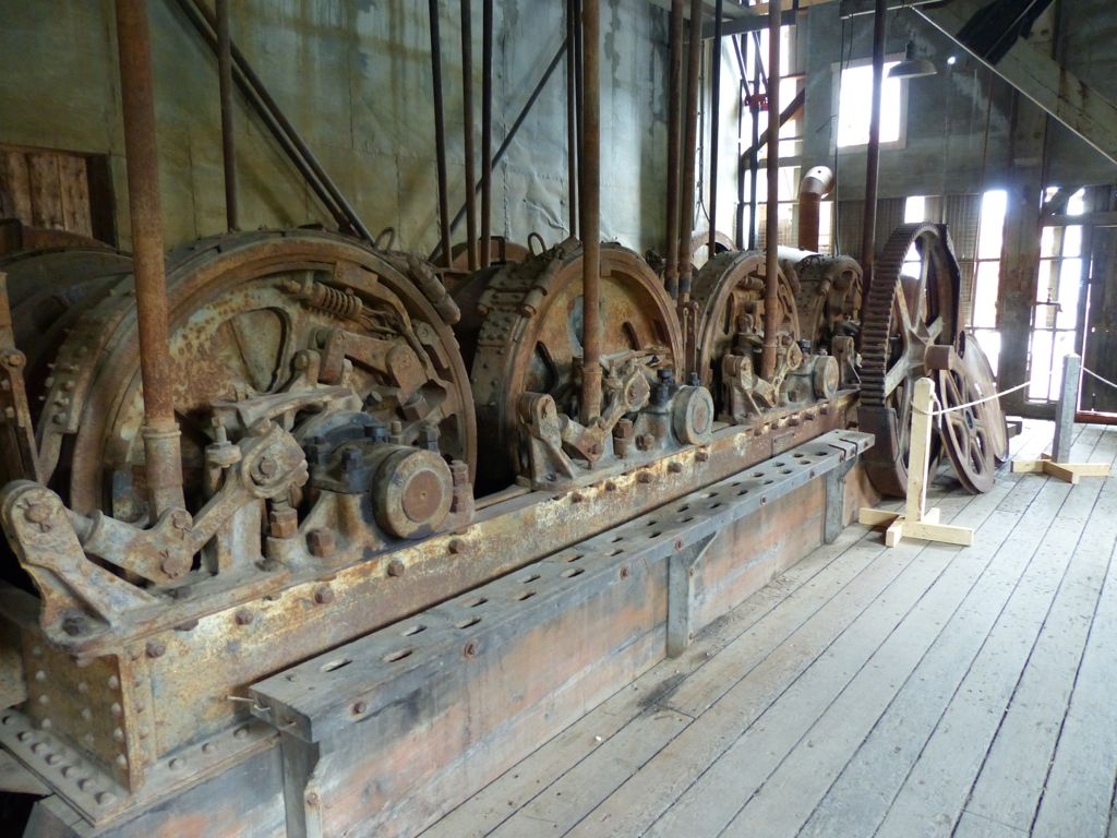 """The dredge was """"green"""" in a perverse sort of way - it operated entirely on electricity (these are some of the motors on board) generated by hydroelectric power."""