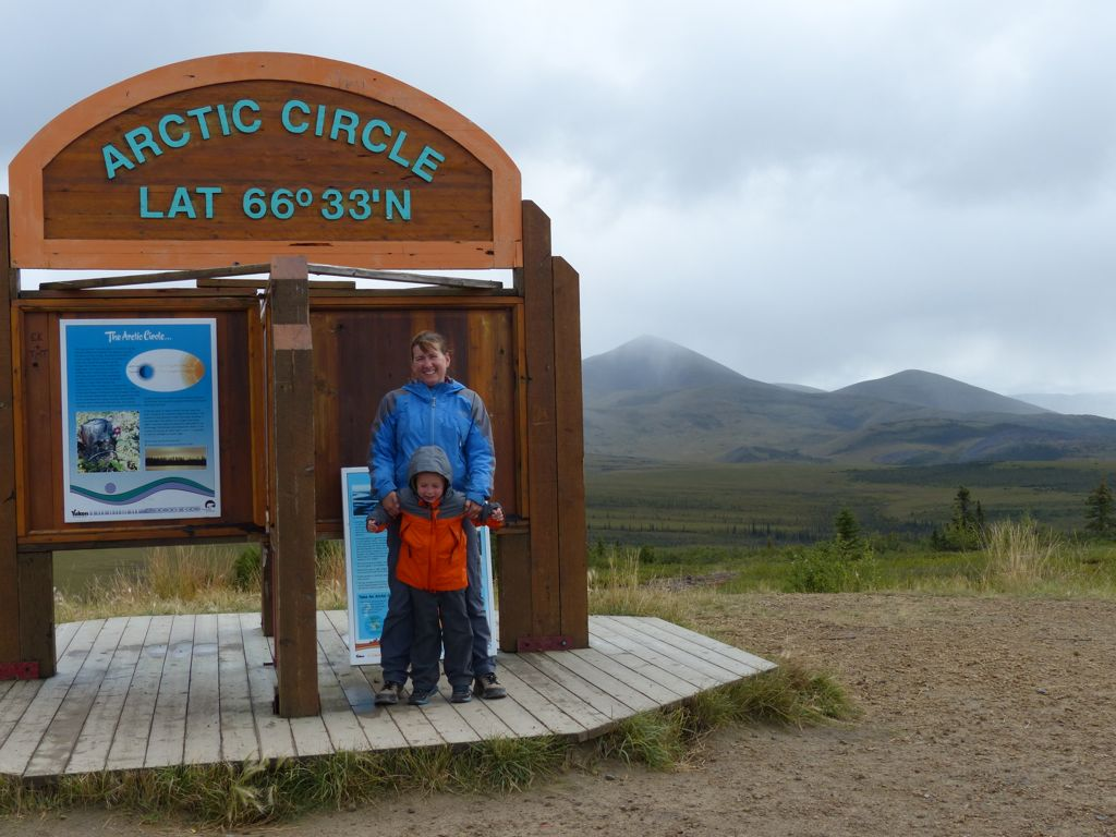 Crossing the arctic circle!