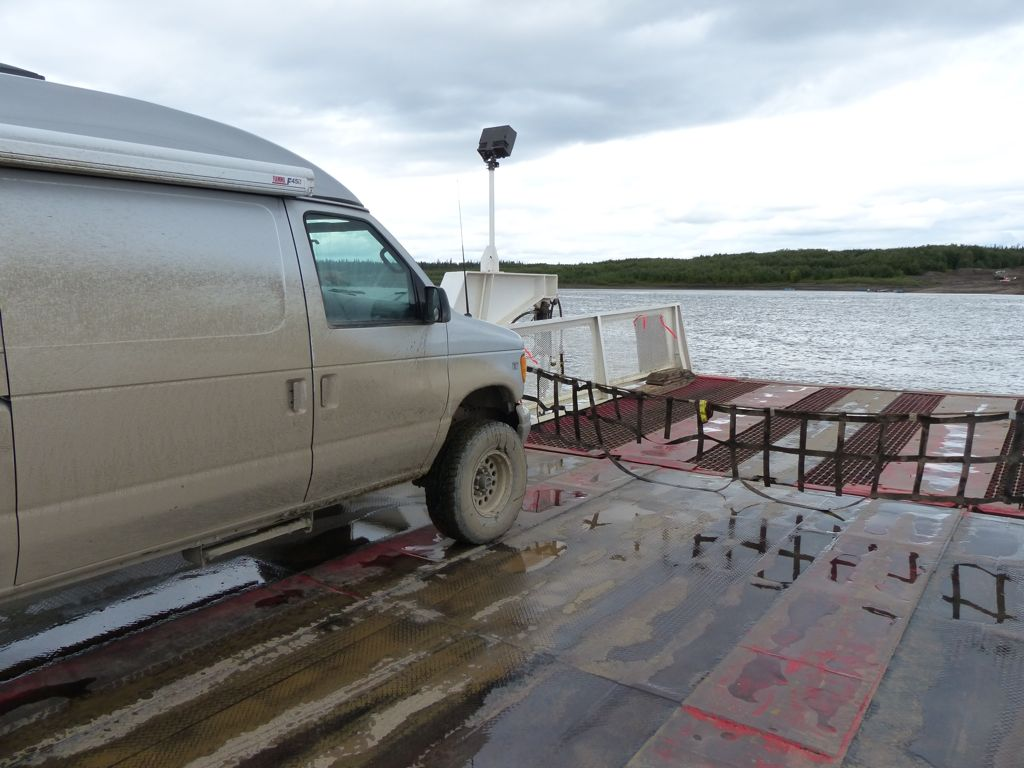 On the ferry across the Mackenzie river
