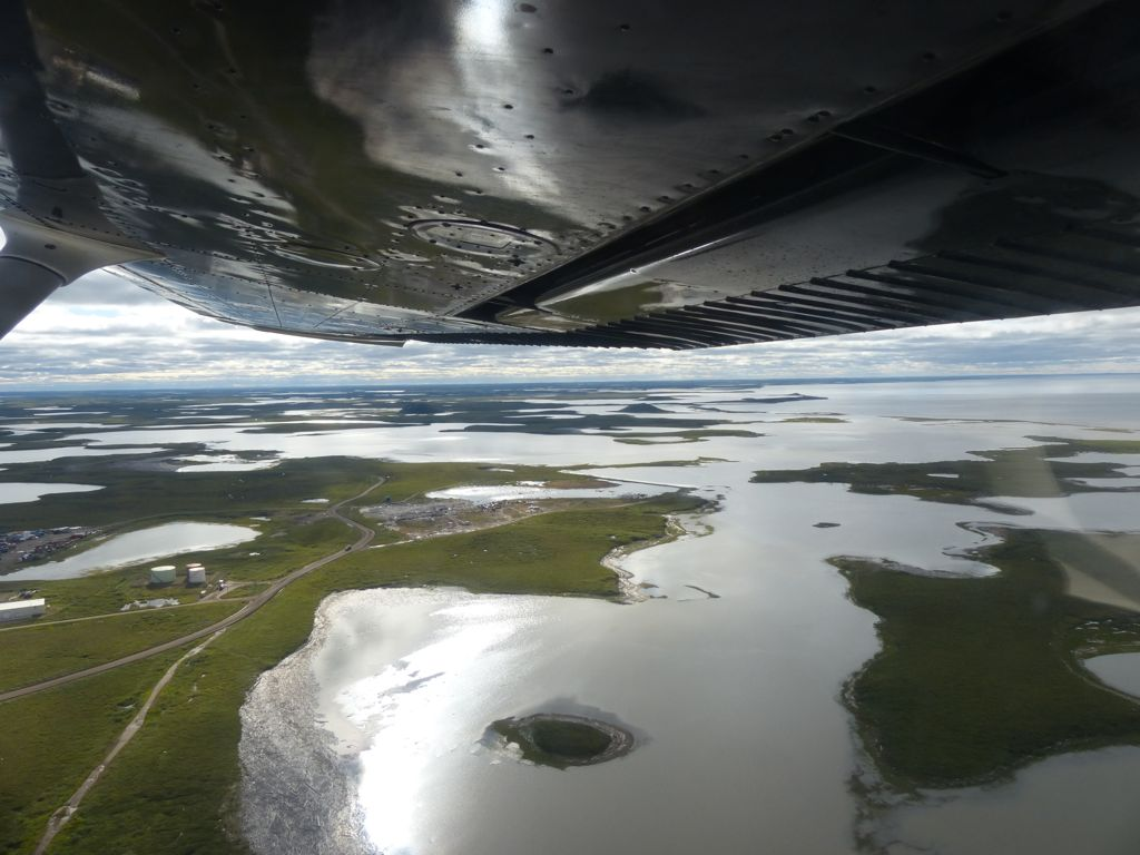 Flying over the region gave a great perspective on the landscape - at least as much water as land.