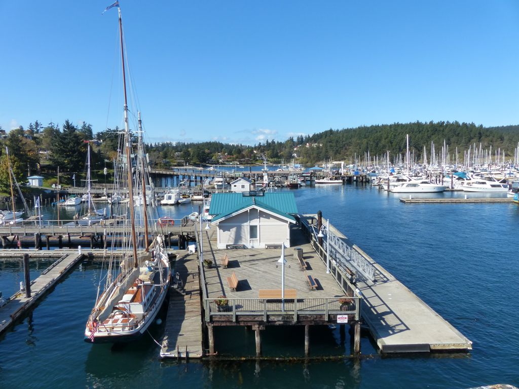Our ferry from Sidney, BC to Anacortes, WA stopped at the picturesque Friday Harbor