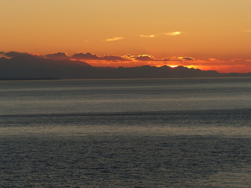 Sunset over the strait from Fort Ebey State Park