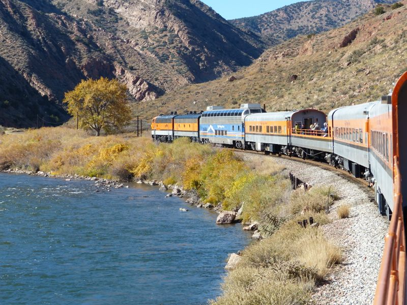 We took Quinn for a ride on the Royal Gorge railroad