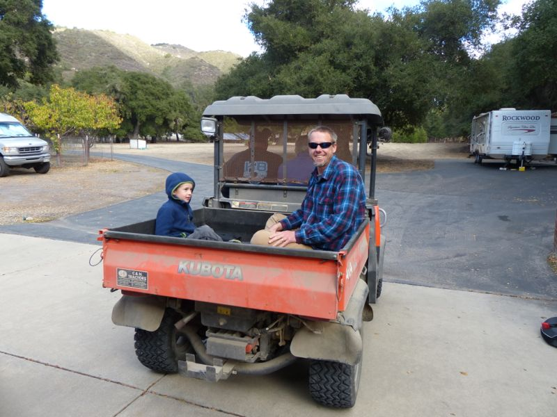 Bob, one of Ruth's neighbors, gave us a ride to a local fossil bed in his ATV.