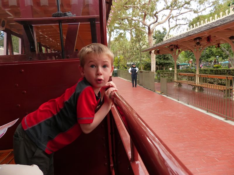 Quinn enjoyed the train rides at Disneyland most of all.