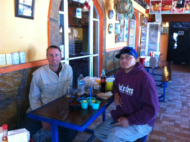 Raphael and Witt had lunch at a great little place in Ures during the test drive.