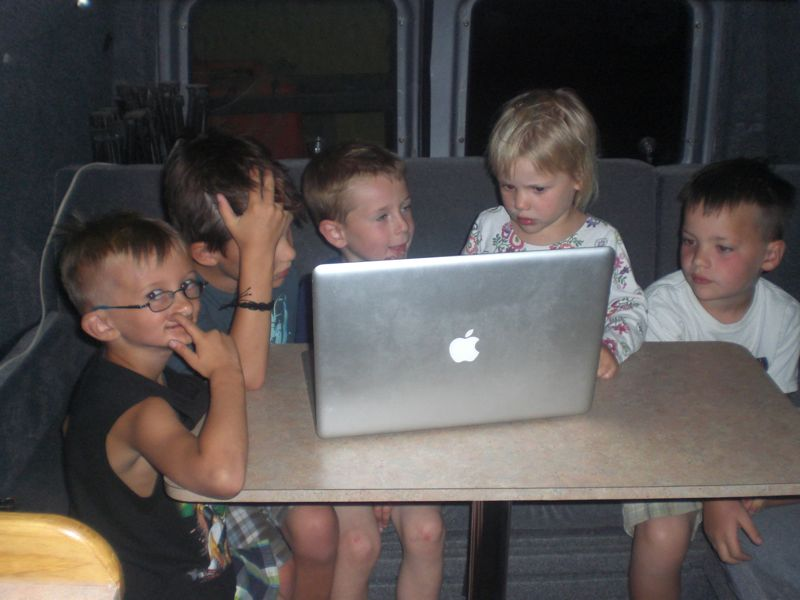 """We charged the kids 2 pesos each for entry into the """"youtube theater"""""""
