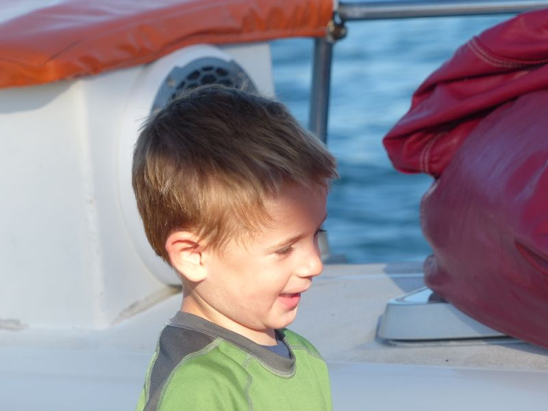 Quinn on board the Ally Cat