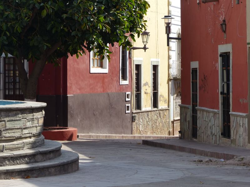 One of the many pleasant plazas in town.