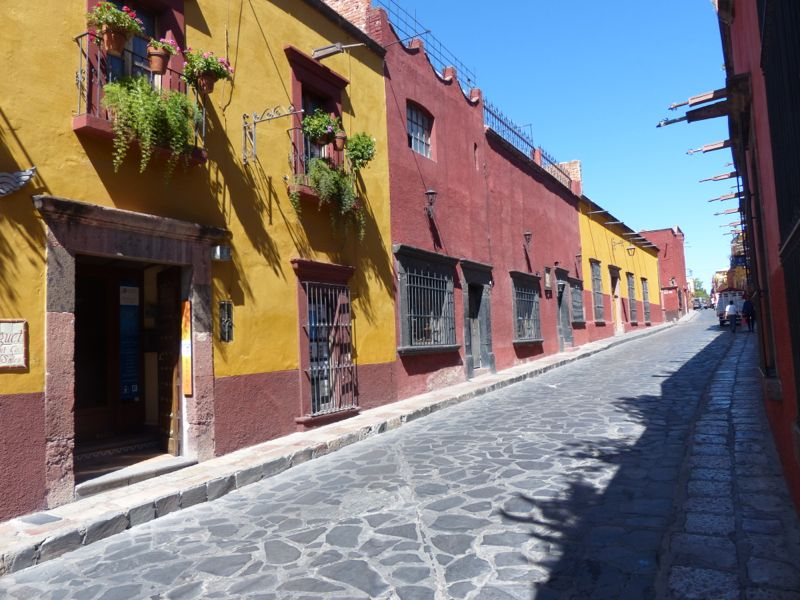 Brightly colored buidings and narrow cobblestone streets are part of what gives San Miguel its appeal.