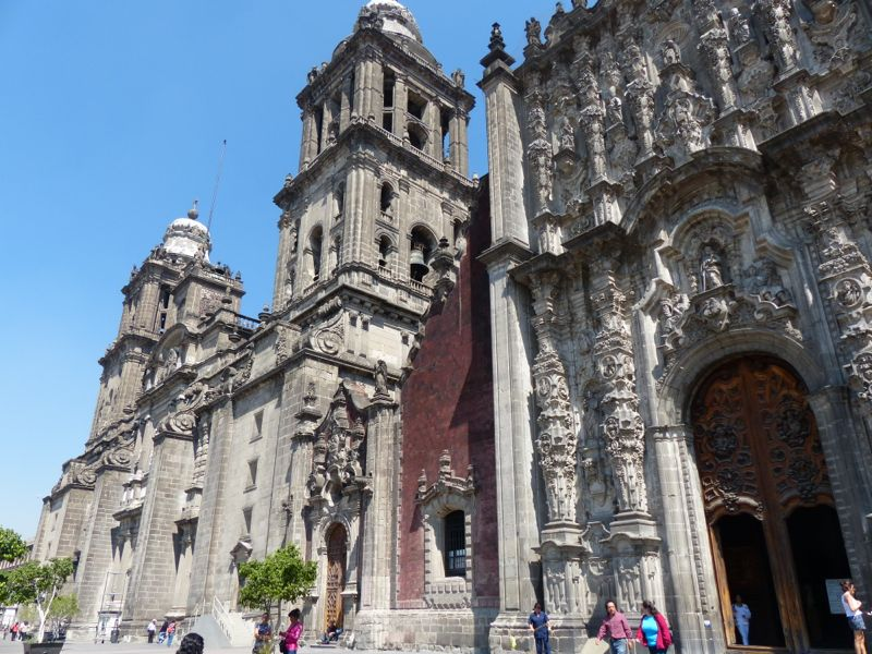 Mexico City's main cathedral