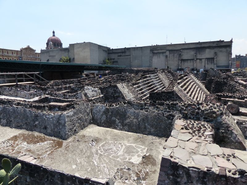 The Templo Mayor, discovered during excavation for a new drainage system, consists of seven different layers, or phases of building, with each expanding on the version before it.