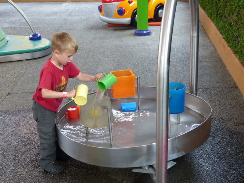 The water table was a favorite attraction.