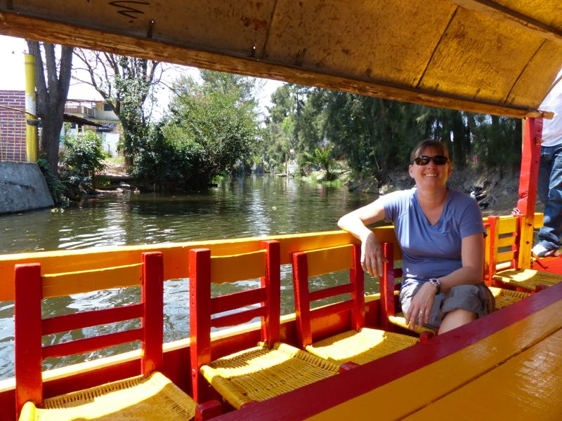 The next day we went to Xochimilco (so-she-mil-co) and spent a couple of hours touring the canals by boat.