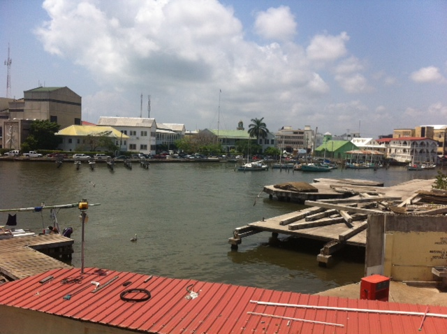 The harbor in Belize City