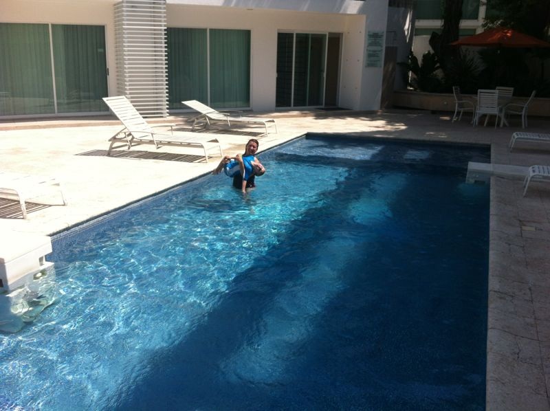 Our hotel in Chetumal had a great pool.