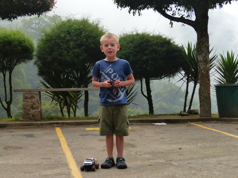 Fortunado and Teo gave Quinn the remote control car as we were leaving their house the next morning. Amazing generosity from people whom we spent about 12 hours with!