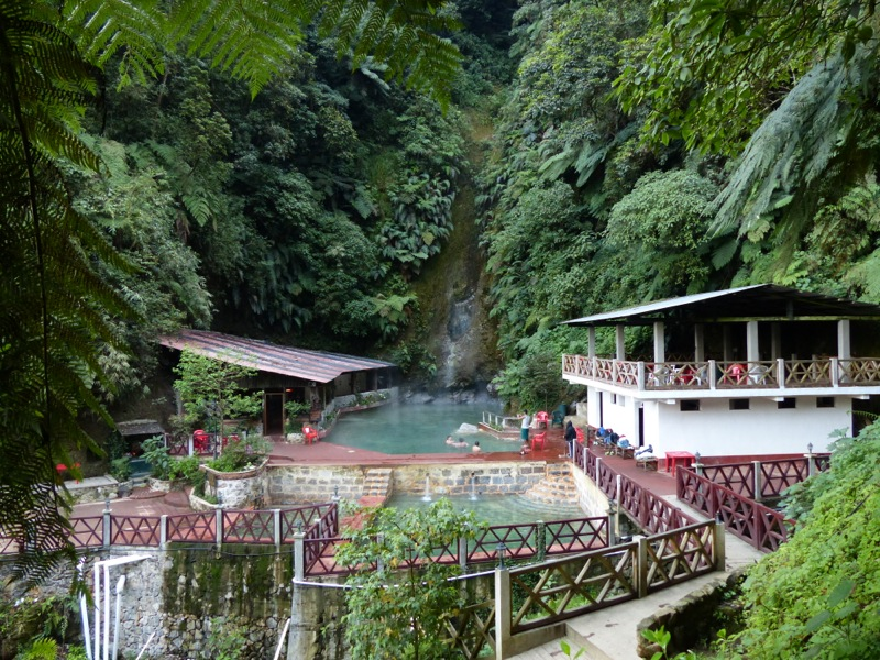 Fuentes Georginas hot springs are set at about 7000 feet in a cloud forest. The nights were cool, making a soak in the hot pools very welcome!