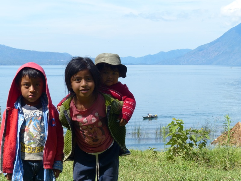 Some kids visited our campsite. The looked so cute I couldn't resist giving them a Quetzal to take their photo.