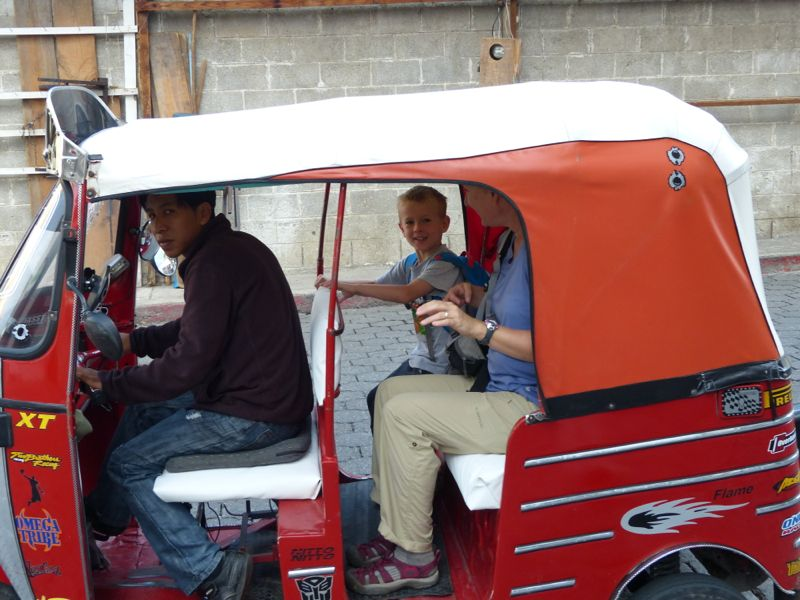 This photo was from one of the days that Quinn and Jen went to school in a tuk-tuk