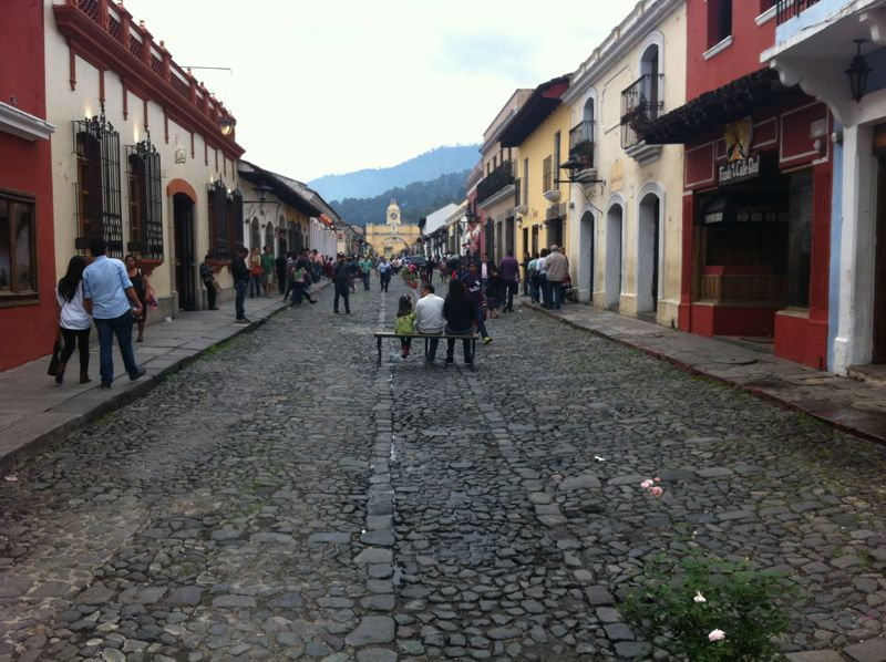 From what little we saw of Antigua, it seemed like a Guatemalan version of San Miguel de Allende, Mexico. Cobblestone streets, colorful buildings, and lots of gringos!