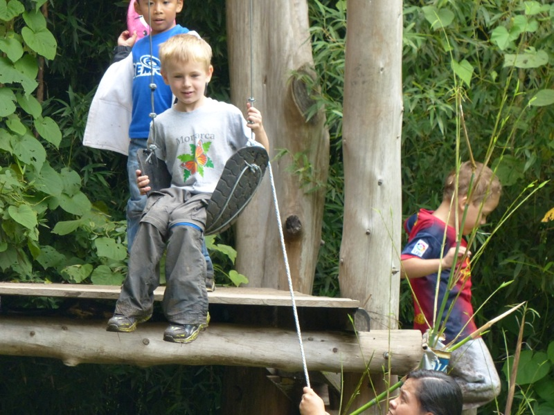 Quinn had a great time on the zip line