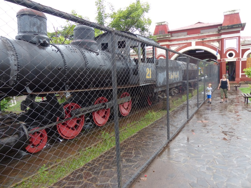 The town's old railroad station featured the first steam engine we've seen since California!