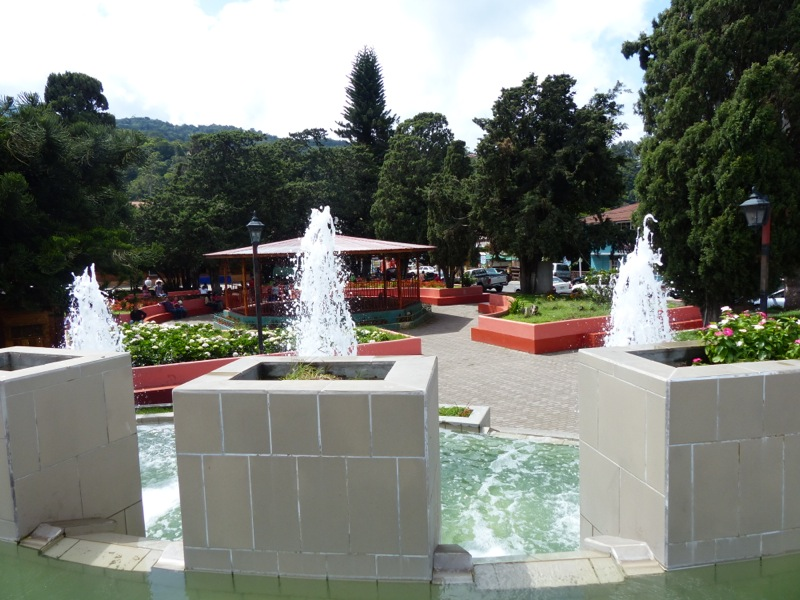 The town's central plaza