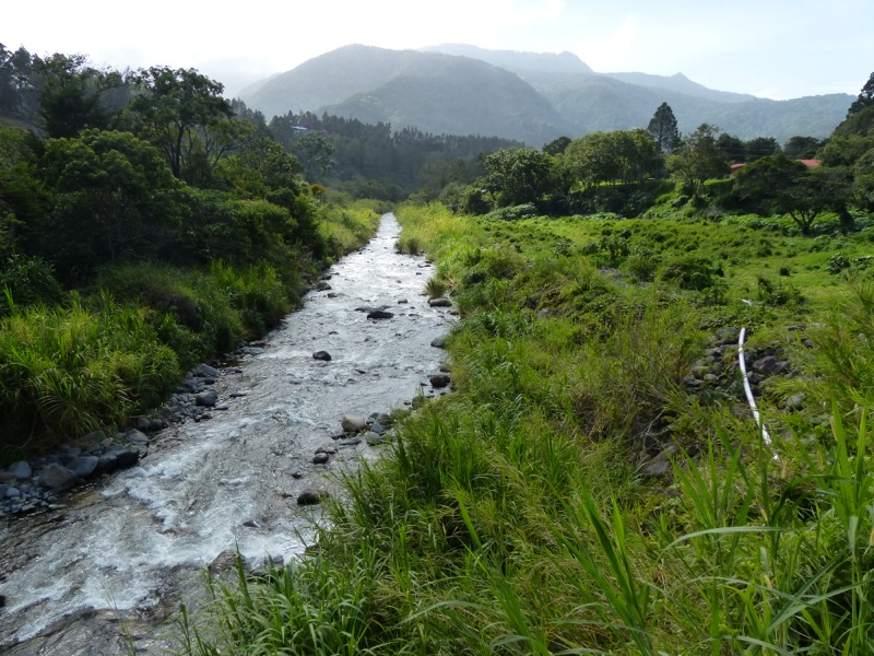 The wet climate means lots of rivers and creeks.