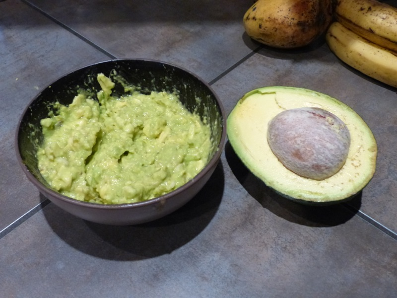 Giant Panamanian avocados. One makes more than enough guac for happy hour.