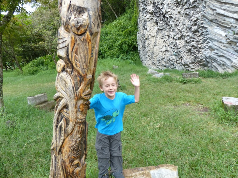 There's a local guy who makes carvings on dead trees in various places around town.