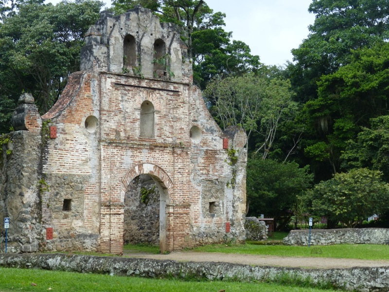 This is what's left of the oldest church in Costa Rica.