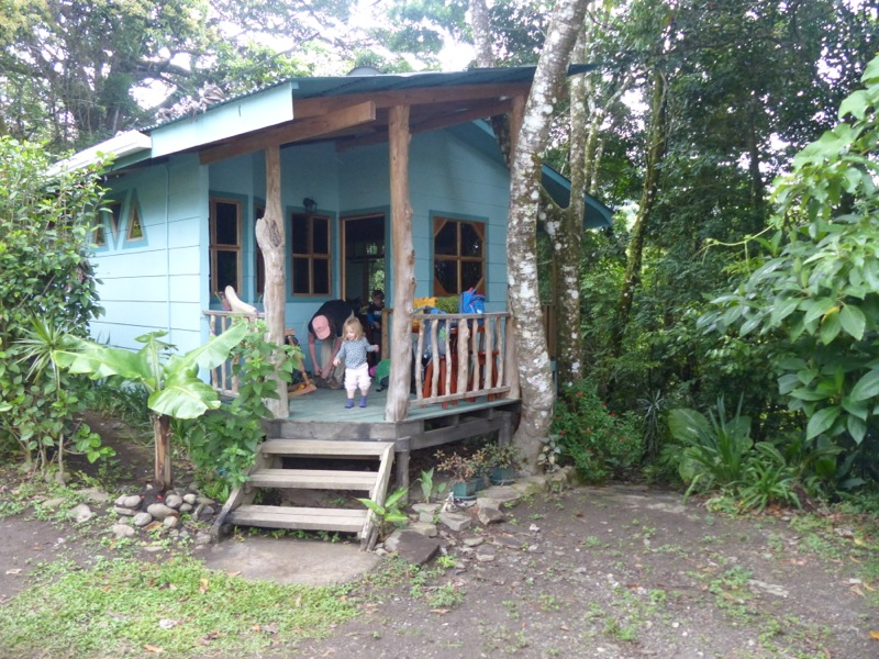 After a couple of hours on rough, windy roads, we were happy to arrive at our little house tucked into the forest.
