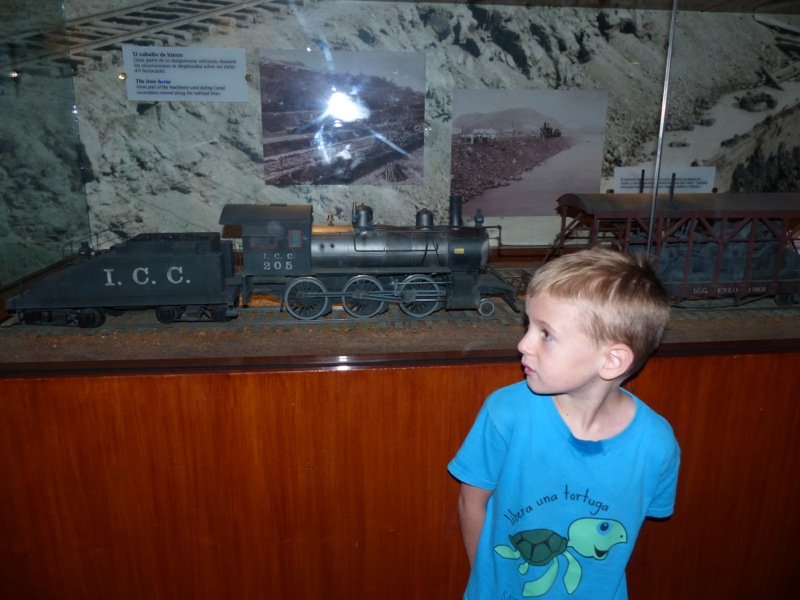 The locks had a great visitor center, which featured models of the trains used in the construction of the canal.