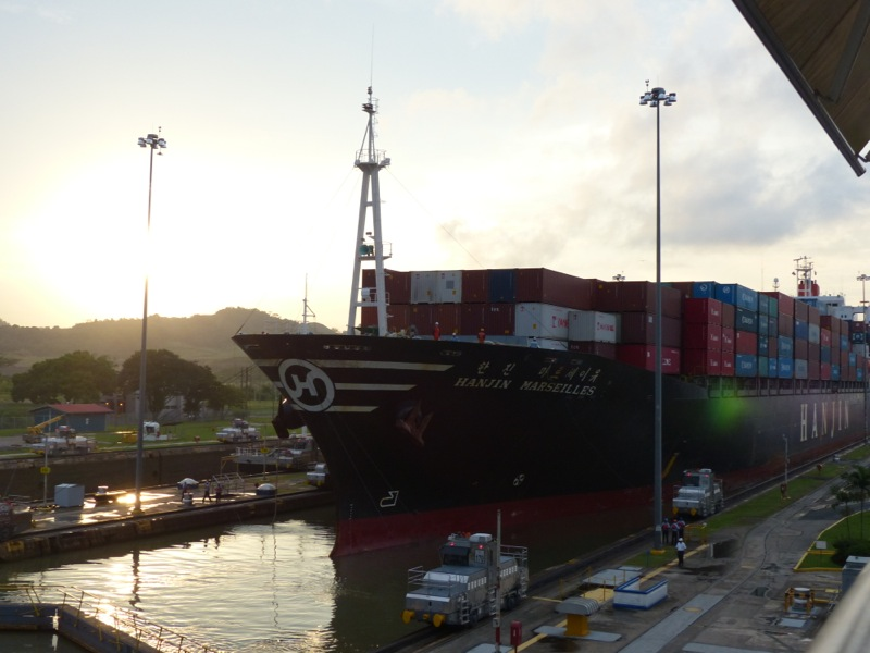 The highlight of our time here was a  visit to the Miraflores locks where we had a nice dinner and watched the locks in operation.