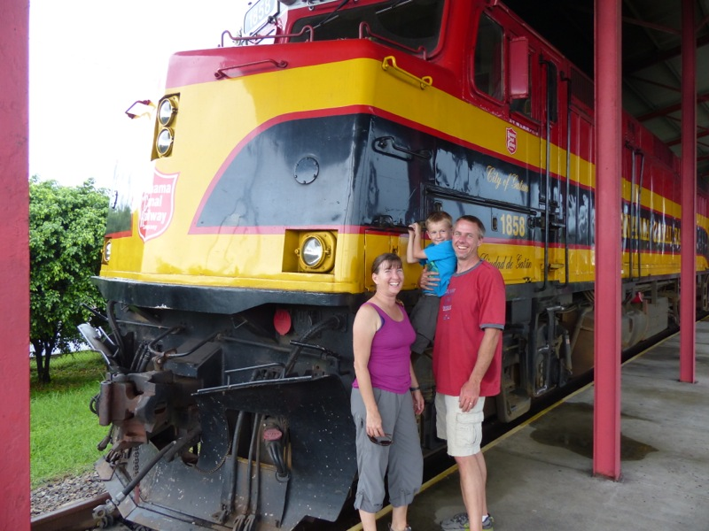 To get back to Panama City from Colon, we rode the Panama Canal Railway, which we had been promising to Quinn for months. It was a big hit!