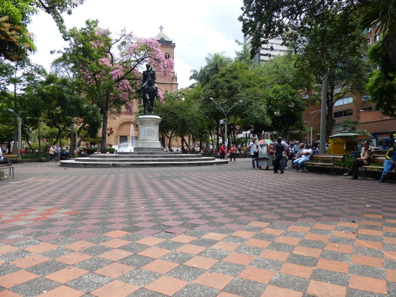 Every town in Panama and Columbia seems have a Plaza Bolivar.