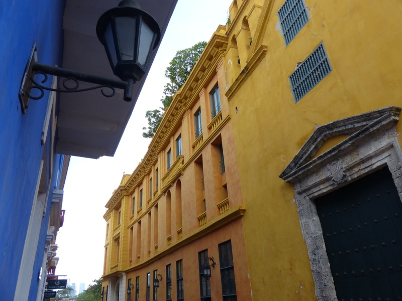 The old town part of Cartagena is beautiful with narrow cobblestone streets and colonial architecture, all overlaid by oppressive heat and humidity.