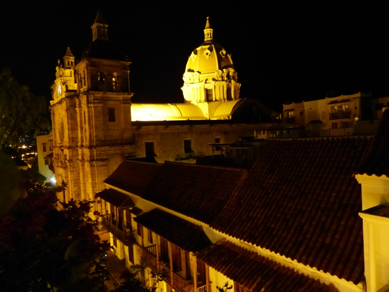The town's cathedrals and other buildings are lit beautifully by night.