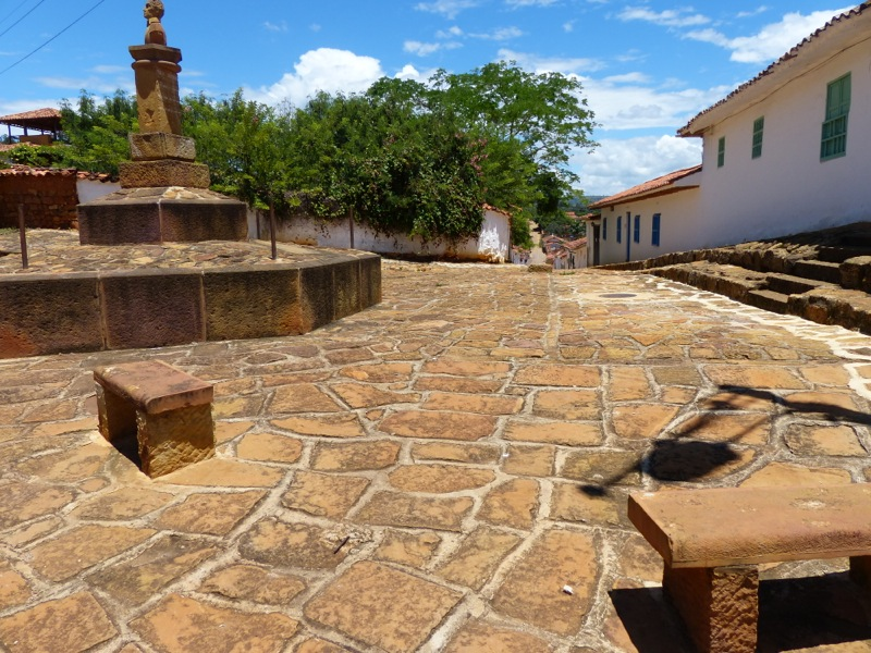 Barichara is a perfectly preserved colonial town. There are rules that nothing can be built that doesn't conform to the traditional architecture.