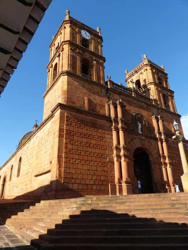 The cathedral is set on the shady main plaza.