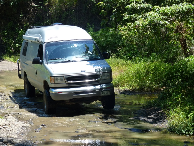We  got the van's tires a little muddy as we enjoyed some spectacular scenery.