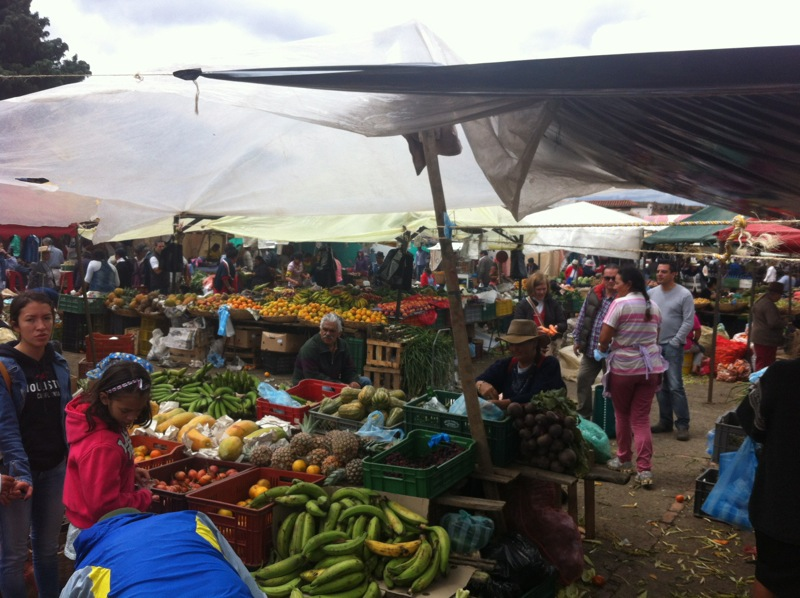 On Saturday we visited the market to buy fruit and veg for the week.