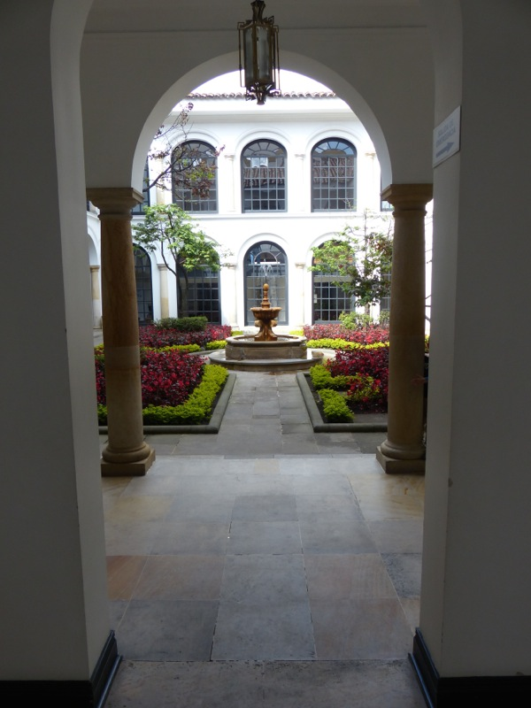 The museum courtyard