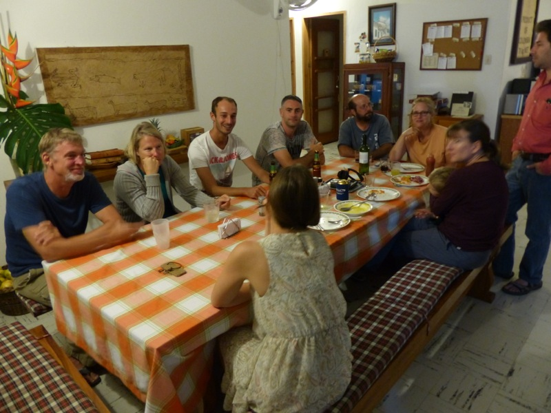 We had a good time talking with other travelers at the hostel.