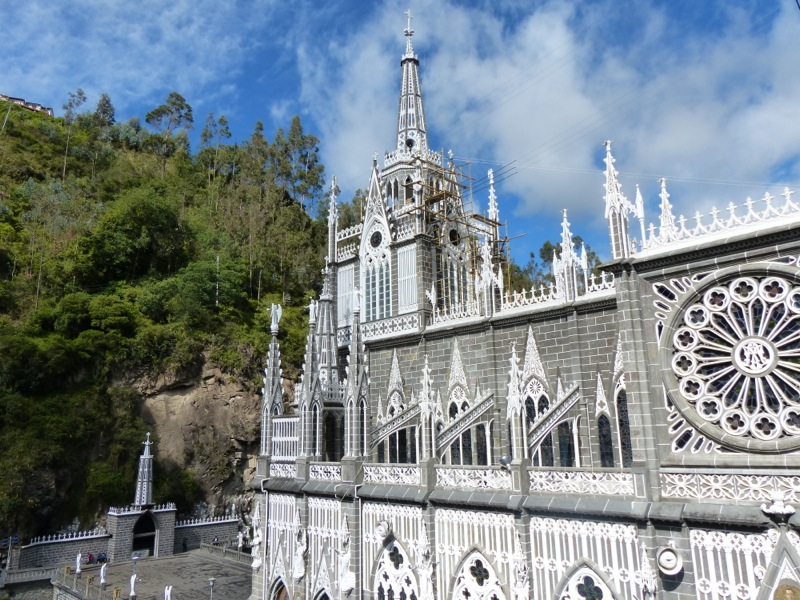 The cathedral at Las Lajas was spectacular.
