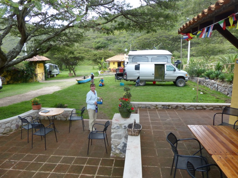 We're staying at Finca Sommerwind, relaxing until our flight to the Galapagos. The German owners are great, and we've met several other overlanders here.