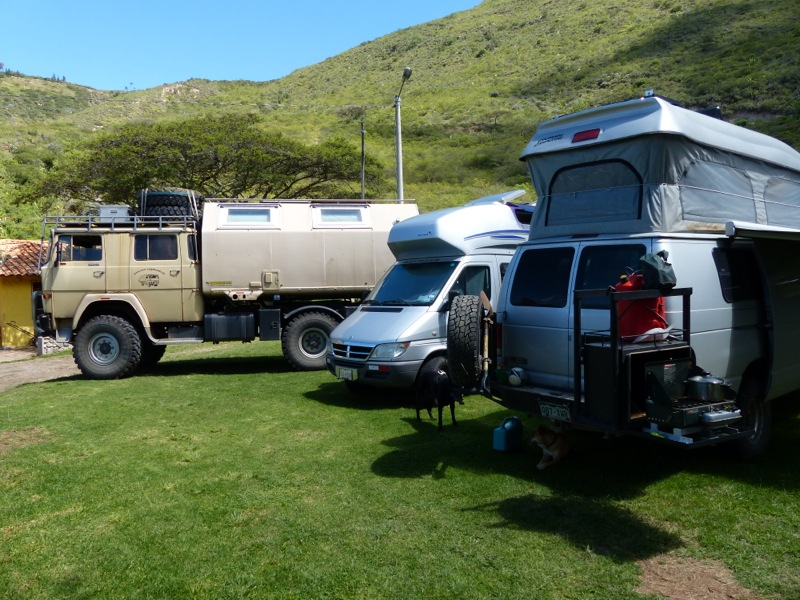 We met a German couple at the campground in Ibarra. They're in a huge 4x4 truck that makes our van look like a toy.