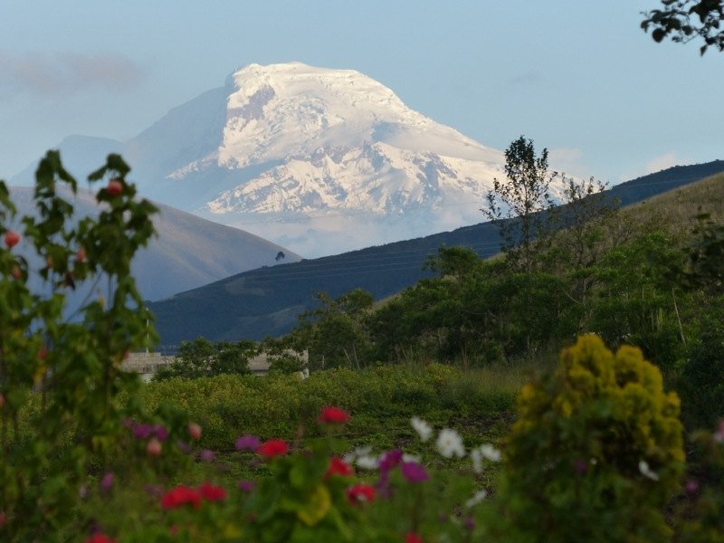 We got our first real glimpse of a snow-capped Andean peak.